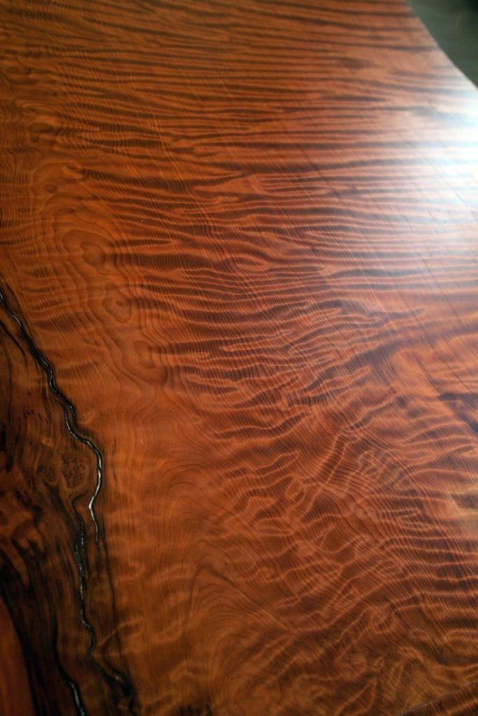 Salvaged Redwood Slab Table ~ Cambridge, Massachusetts Private Residence