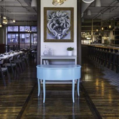 Reclaimed Factory Maple Boston Restaurant Flooring