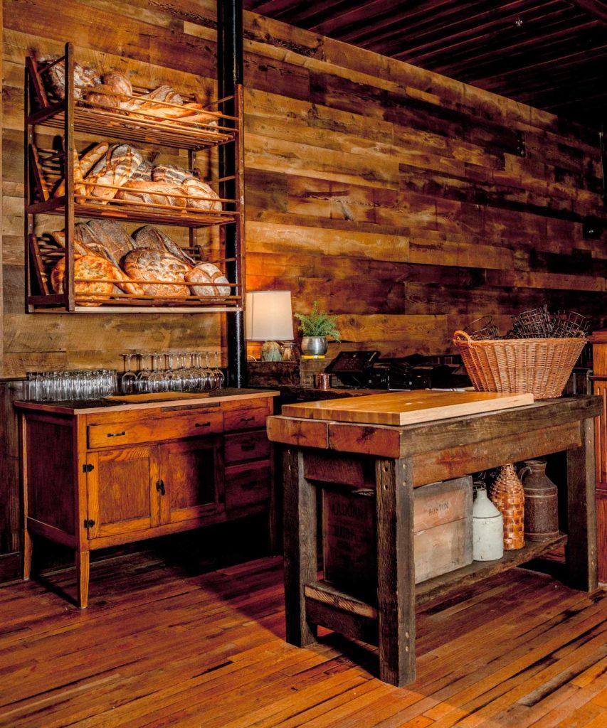 Capo Restaurant Reclaimed Hemlock Paneling