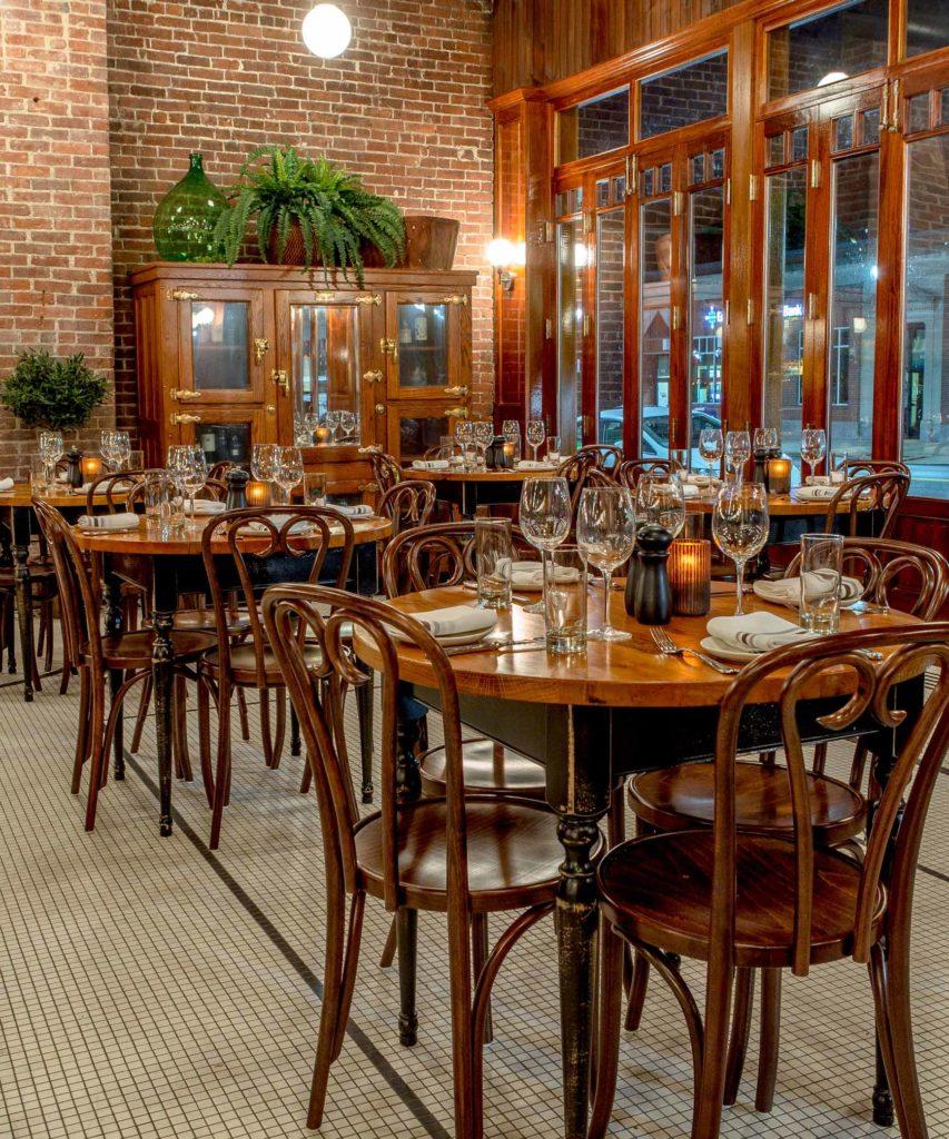 Capo Restaurant Reclaimed Oak Tables