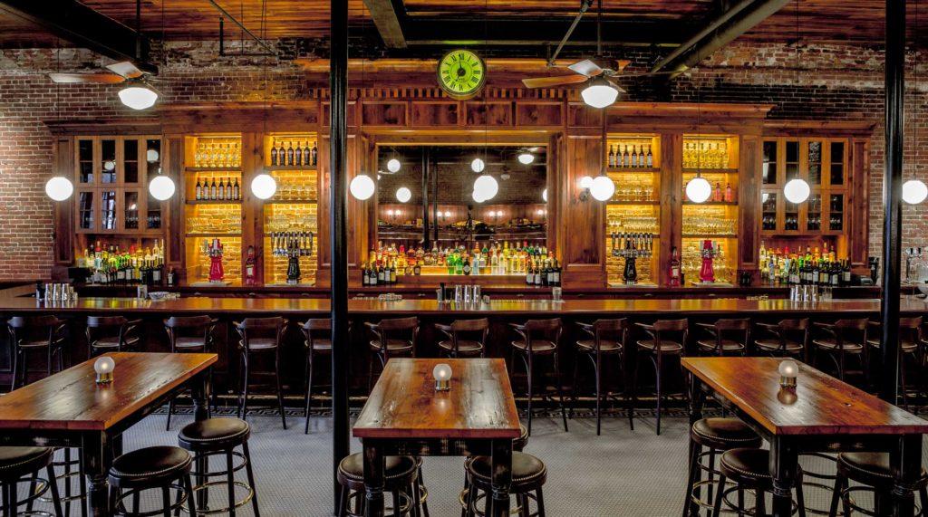 Capo Restaurant Reclaimed White Pine Bar & Tables