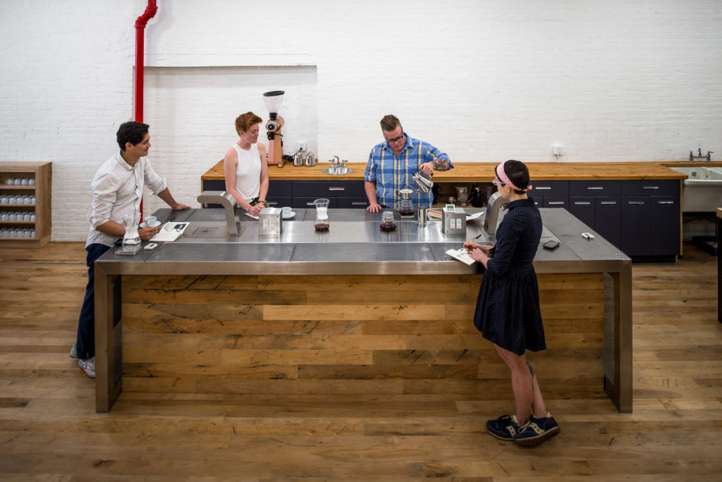 Reclaimed Factory Maple ~ Counter Culture Coffee, New York City
