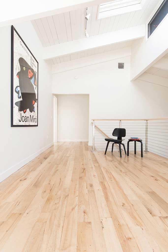 Reclaimed Maple Flooring In Private Home - Finish is Vermont Naturals Water Based Polyurethane