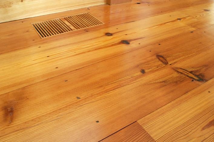 Reclaimed #2 Flatsawn Heart Pine Flooring ~ New Hampshire