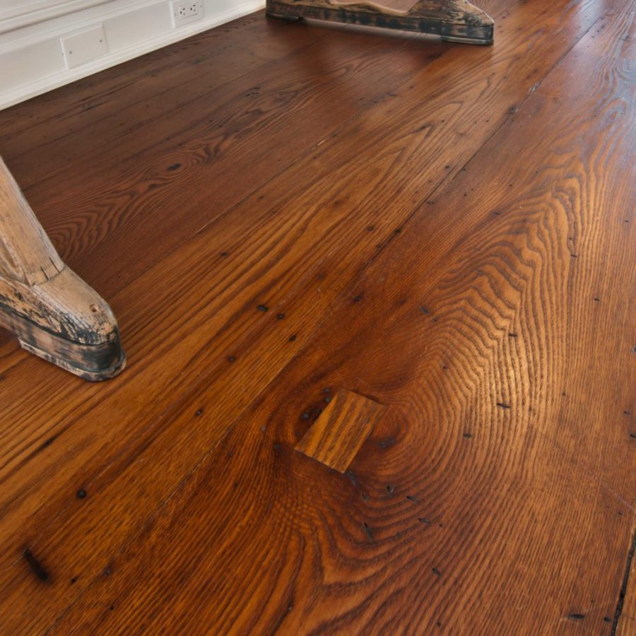 Reclaimed American Chestnut Flooring ~ Private Residence, Cold Spring Harbor, New York