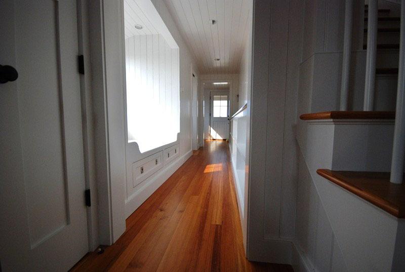 Reclaimed #2 Vertical Grain Heart Pine Flooring ~ Nantucket Private Residence