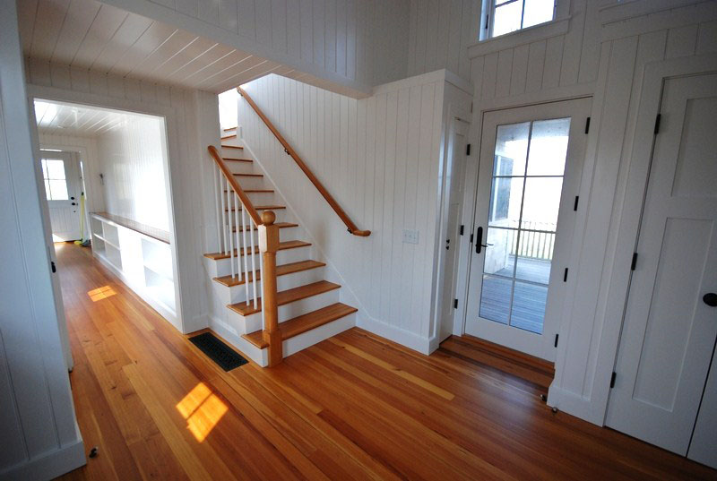 #1 Clear Quartersawn Reclaimed Heart Pine Flooring ~ Private Residence, Nantucket, Massachusetts