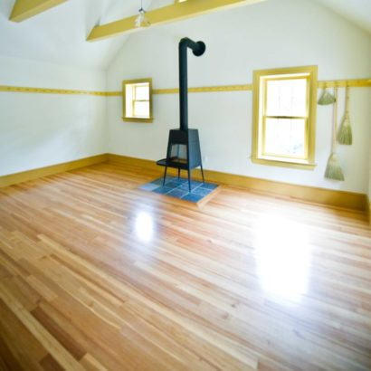 #1 Clear Quartersawn Reclaimed Heart Pine Flooring ~ Rockport, Massachusetts, Private Residence