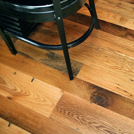 Reclaimed Red & White Oak Flooring ~ Restaurant, Boston, Massachusetts