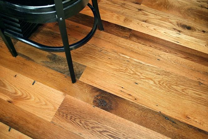 Reclaimed Red & White Oak Flooring ~ Restaurant, Boston, Massachusetts