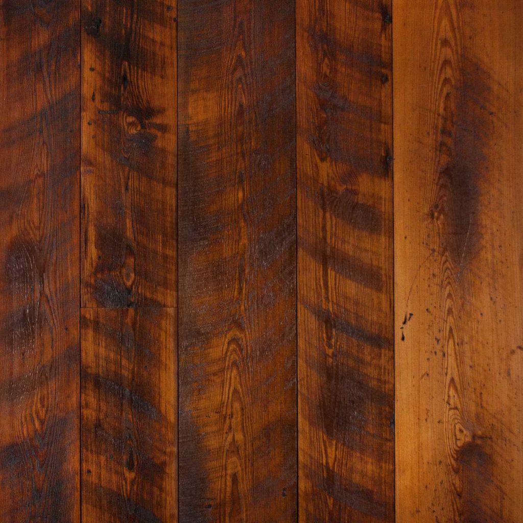 Reclaimed Skip-Planed Heart Pine Flooring