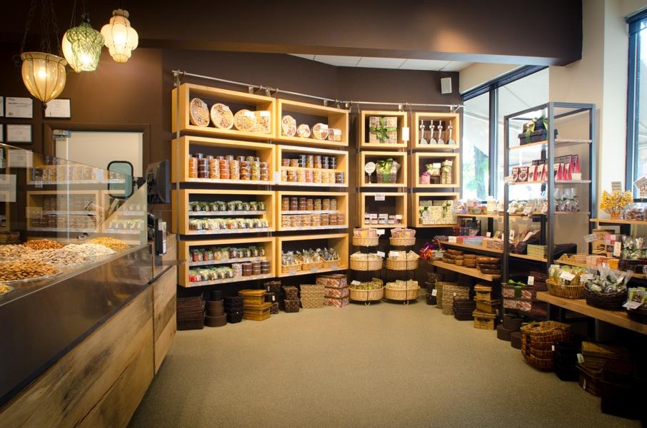 Reclaimed White Oak Shelves ~ Fastachi, Watertown, Massachusetts