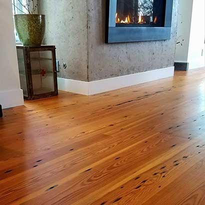 Naily Grade Reclaimed Heart Pine Flooring