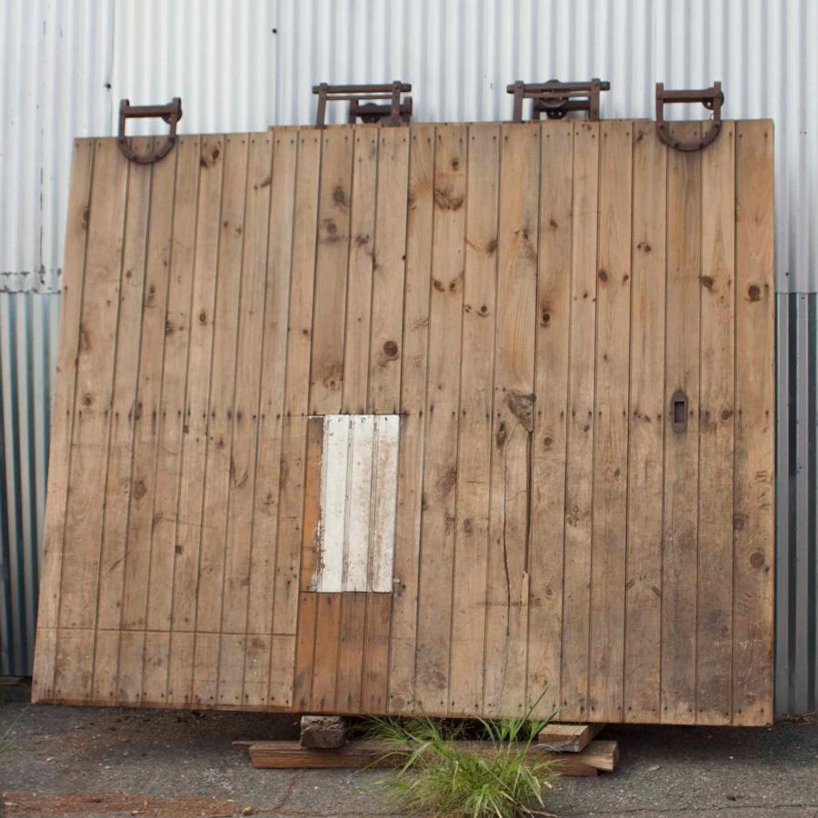 Salvaged Brown Wood Door