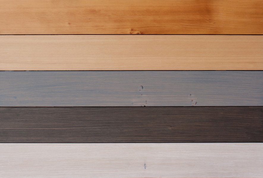 Stains and Finishes on Reclaimed Douglas Fir
