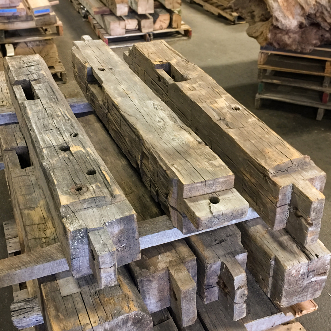Hand-Hewn Rustic Softwood Mantels