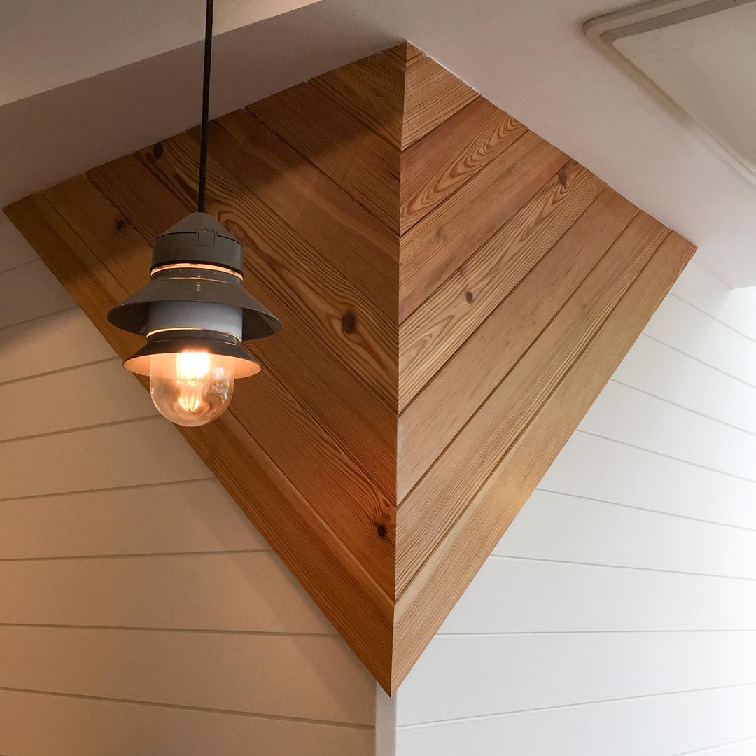 Reclaimed Heart Pine Restaurant Paneling