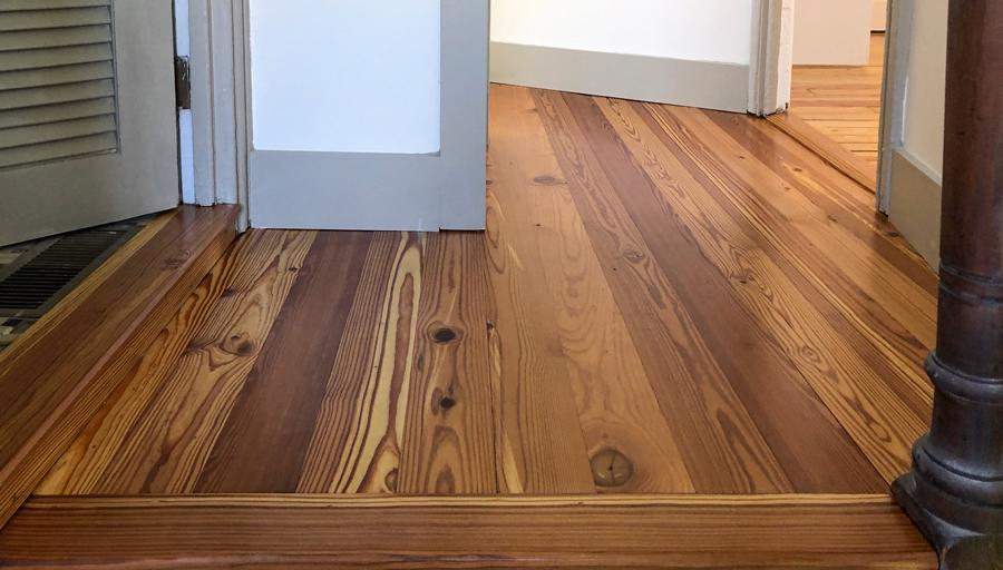Select #2 Flatsawn Grade Reclaimed Heart Pine Flooring