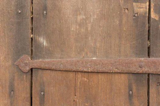 Salvaged Wood Door Hinge