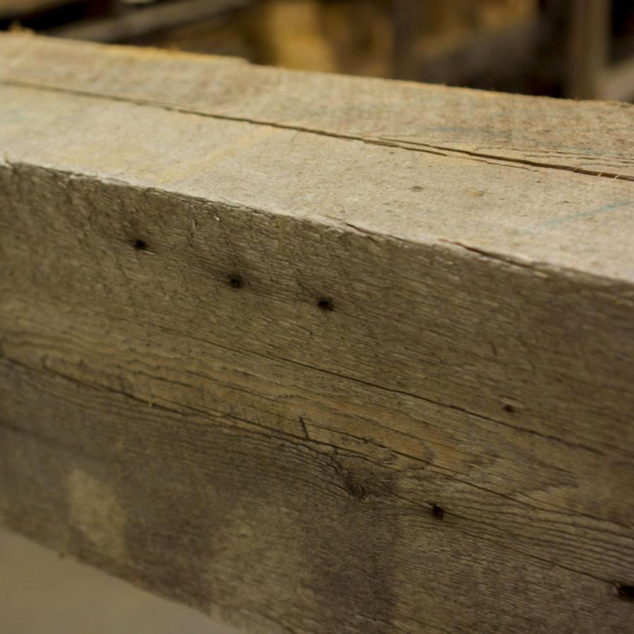 Reclaimed Wood Mantel- Original Sawn Surface