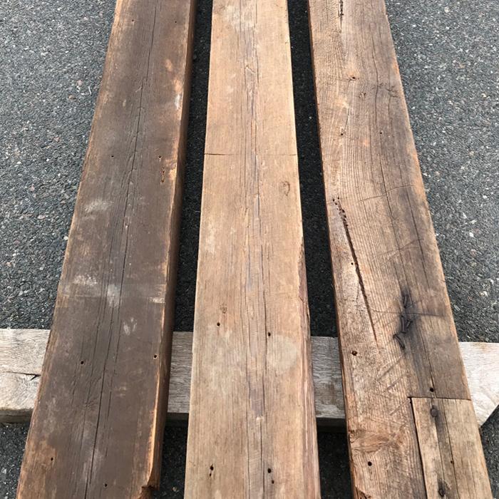 Original Patina Heart Pine Beams