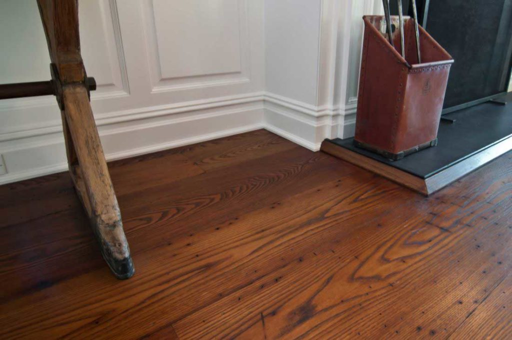 Reclaimed American Chestnut Flooring ~ Private Residence, Cold Spring Harbor, New York
