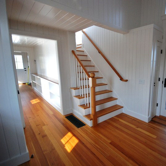 Reclaimed #1 Clear Quartersawn Heart Pine Flooring ~ Nantucket, Massachusetts, Private Residence