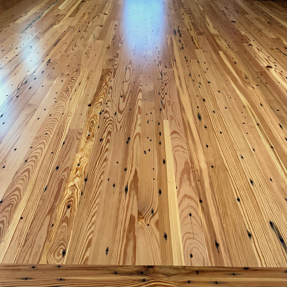 Reclaimed Heart Pine Naily Grade Floor