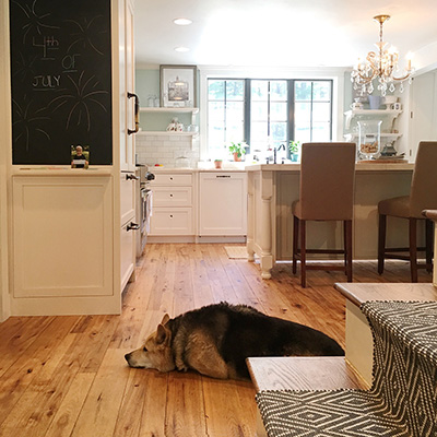 Reclaimed Hickory Kitchen Flooring