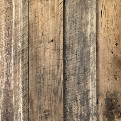 Mixed Reclaimed Softwoods Wire-Brushed Paneling