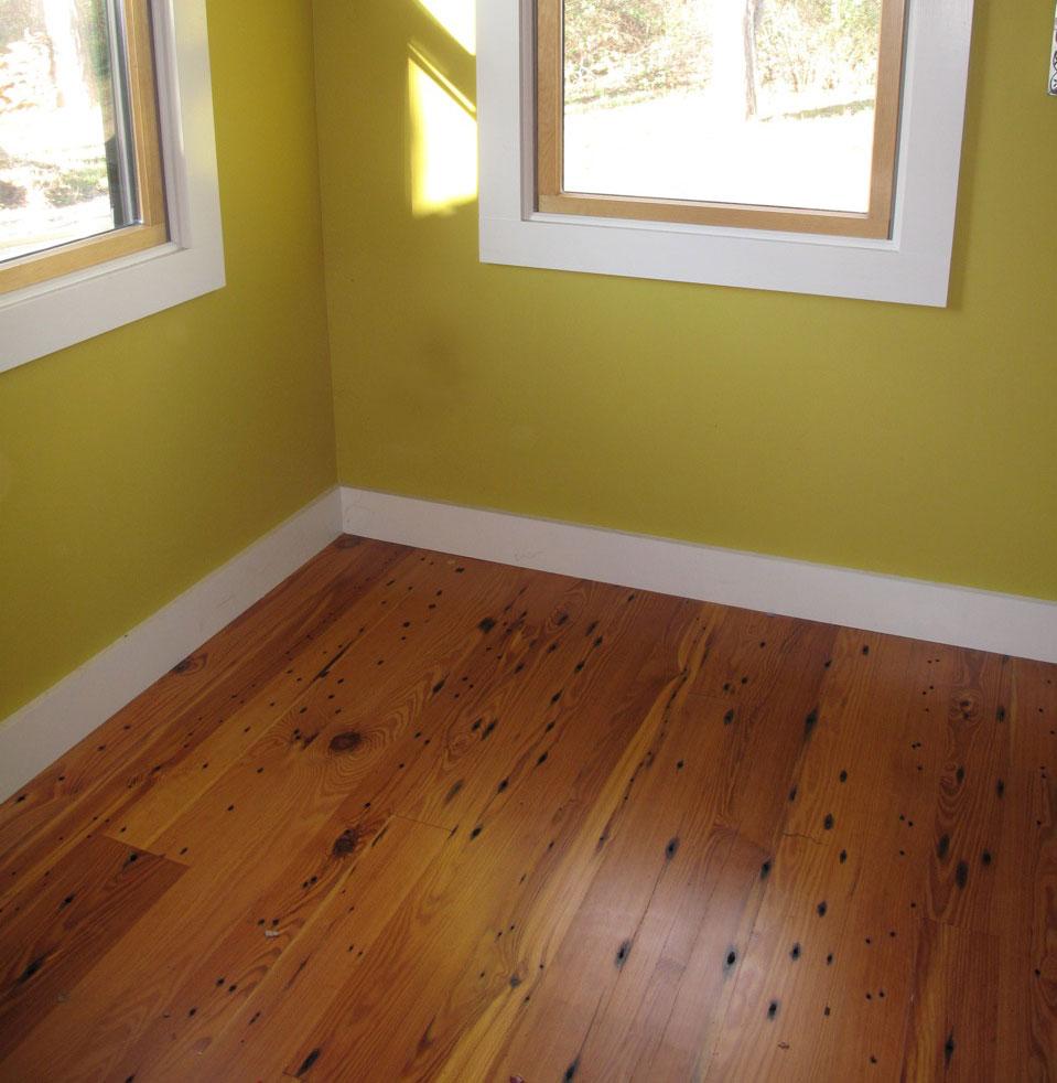 Reclaimed Naily Buckshot Heart Pine Flooring ~ Private Residence