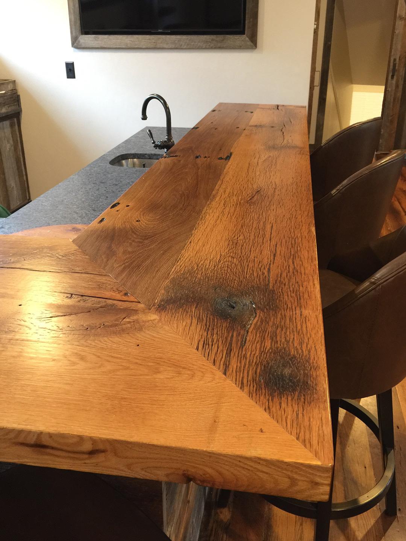 Reclaimed Oak Bar Top