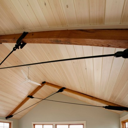 Reclaimed Roughsawn Ceiling Beams ~ Martha's Vineyard, Massachusetts