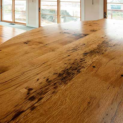 Reclaimed Oak Countertop ~ Martha's Vineyard, Massachusetts, Private Residence