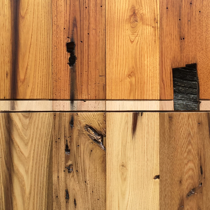 Reclaimed American Chestnut Post and Beam Paneling