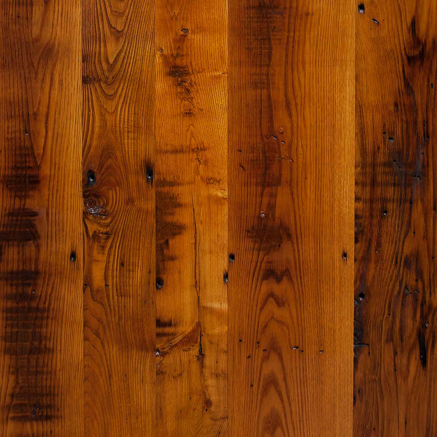 Reclaimed Skip-Planed American Chestnut Flooring