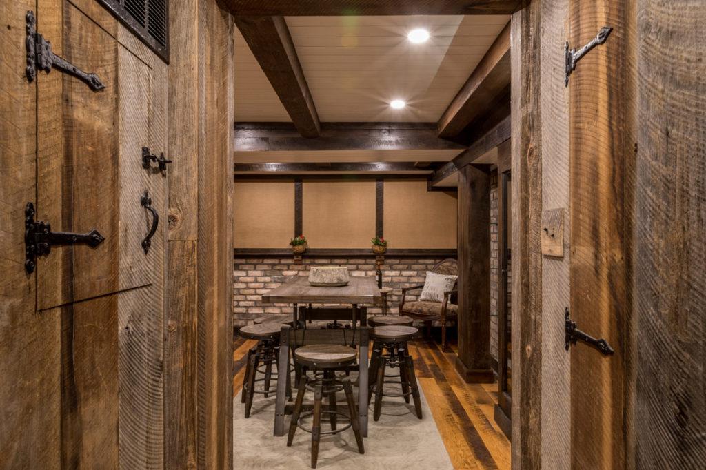 Reclaimed Skip-Planed Oak Paneling and Flooring