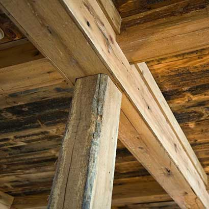 Reclaimed White Oak Beam Casings ~ Maine Private Residence