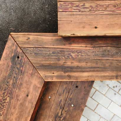 Salvaged Douglas Fir Beams At Market