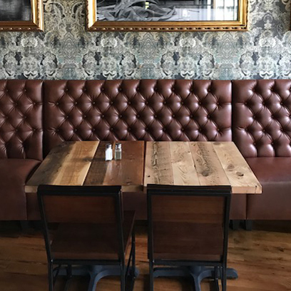 Reclaimed Wood Tables In Quincy, MA Restaurant