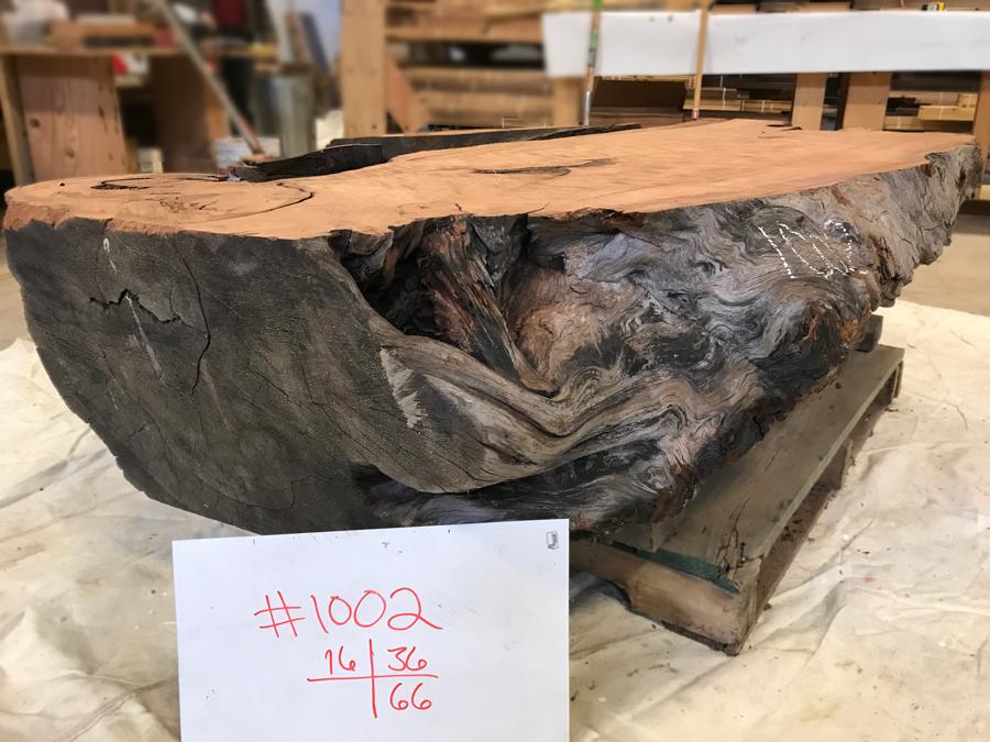Salvaged Redwood Base Number 1002