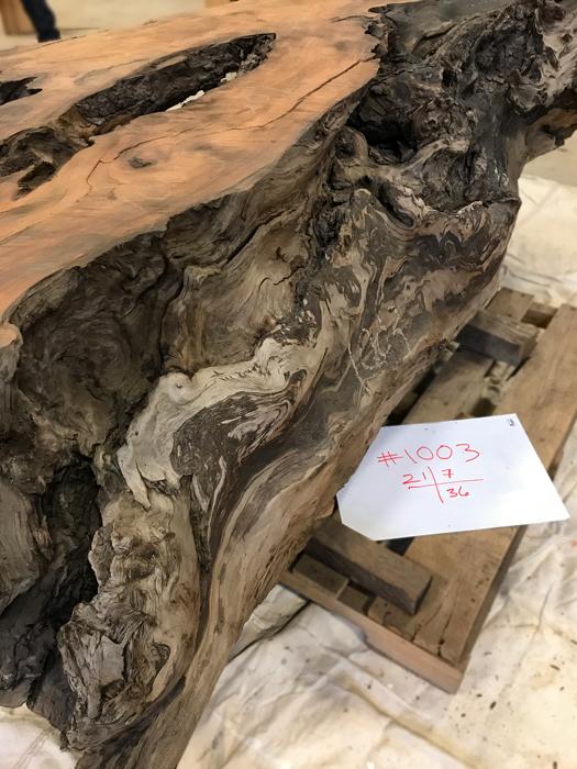 Salvaged Redwood Base Number 1003