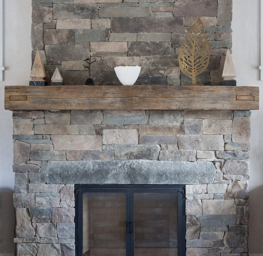 Antique Hand-Hewn Mantel and Ceiling Beam in Private HomeAntique Hand Hewn Mantel and Ceiling Beam in Private Home