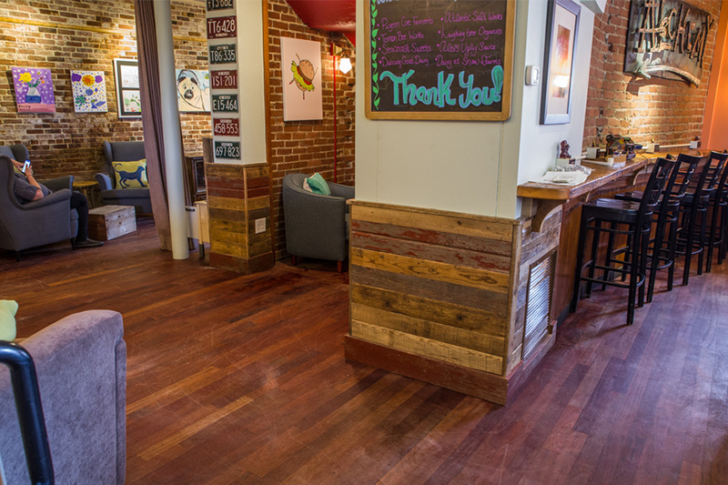 Salvaged Barn Board and Reclaimed Oak and Pine, Gloucester, MA Restaurant
