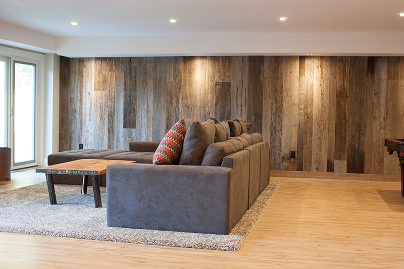 Salvaged Barn Siding in Private Home