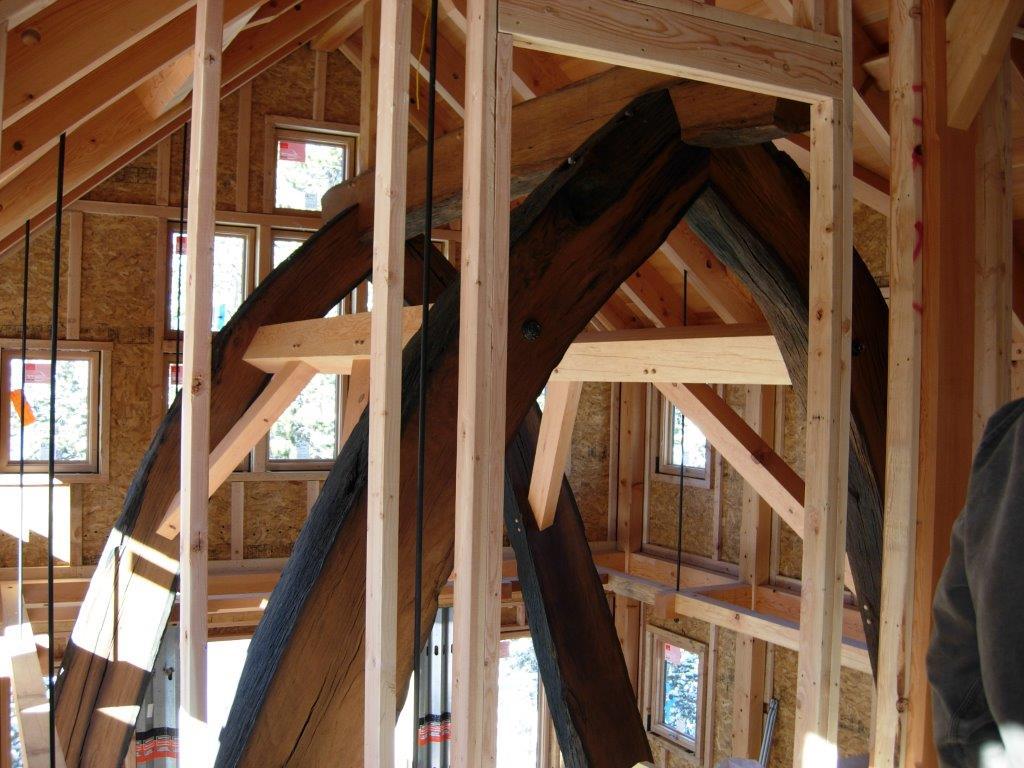 Live Oak Timber Frame Cruxes In Colorado Private Home