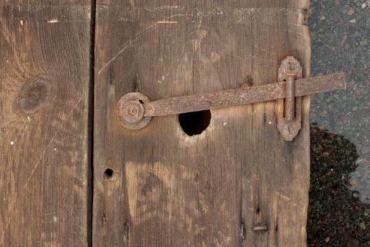 Salvaged Wood Door Latch