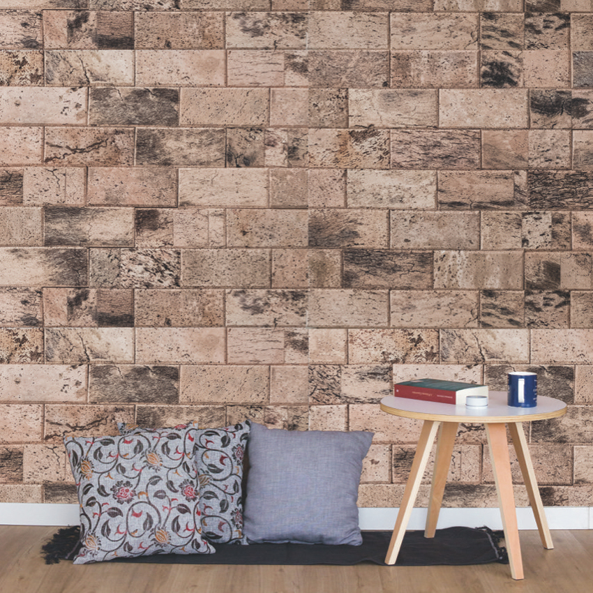 We Cork Wall Covering Paneling Natural Brick