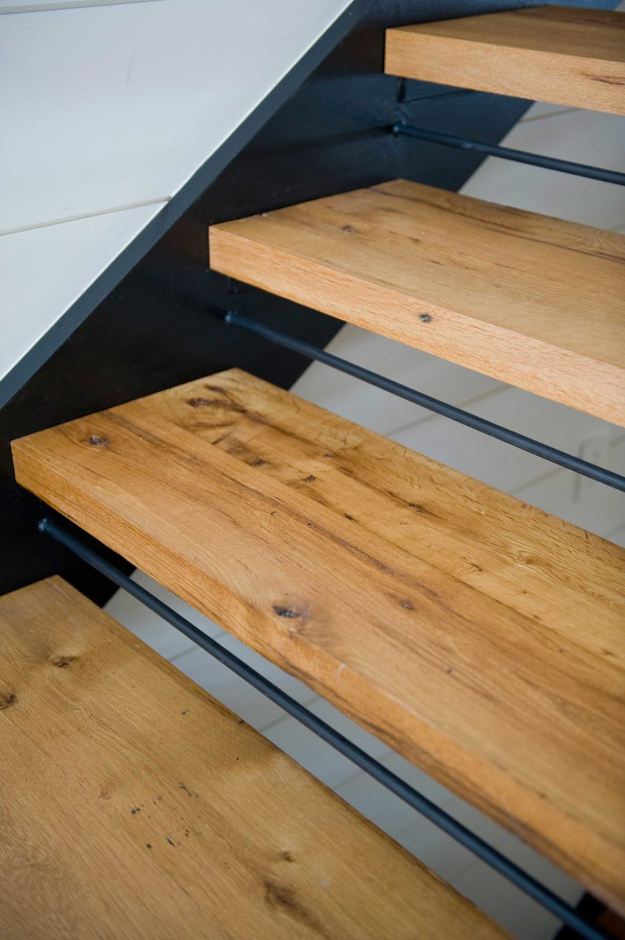 Reclaimed Oak Stair Treads ~ Maine Private Residence